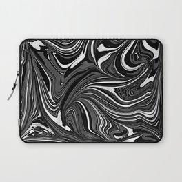 Black White Grey Marble Laptop Sleeve