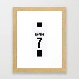 Ronaldo 7 Juve Framed Art Print