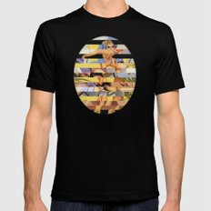 Glitch Pin-Up Redux: Courtney Mens Fitted Tee Black MEDIUM