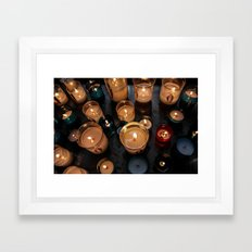Cathedral Candles Framed Art Print
