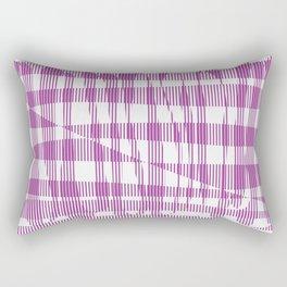 Purple/Violet Pattern Rectangular Pillow