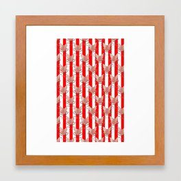 ugly duckling in red stripes Framed Art Print