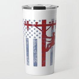 American Lineman Travel Mug