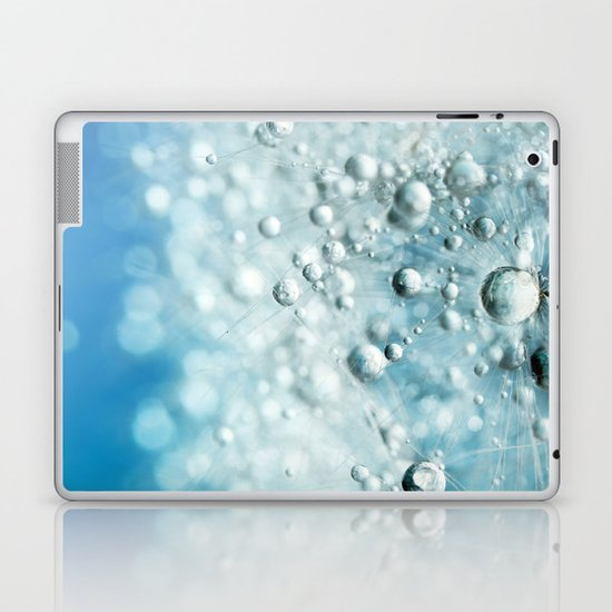 Powder Blue Drops Laptop & iPad Skin