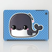 killer whale iPad Cases featuring Kawaii Killer Whale by Katie White
