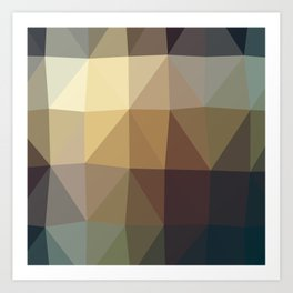 Shades Of Brown Triangle Abstract Art Print