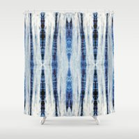 nori Shower Curtains featuring Nori Blue by Nina May Designs