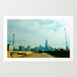 Chicago by car Art Print
