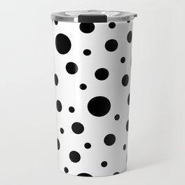 Black on White Polka Dot Pattern Travel Mug