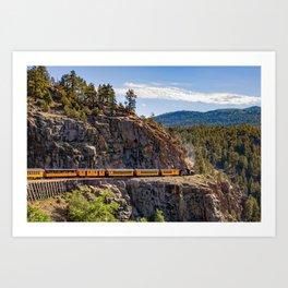 Durango-Silverton DSNG Narrow Gauge Railroad Train - Colorado Art Print