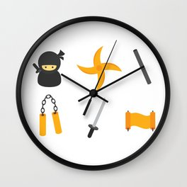 Leather Ninja Wall Clock