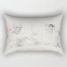 Picasso and Hockney Rectangular Pillow