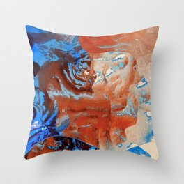 Where the colors collide Throw Pillow