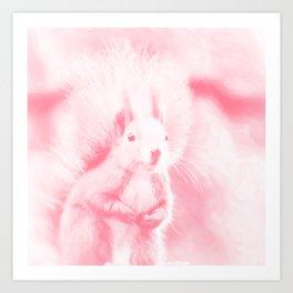 squirrel digital oil paint doppw Art Print