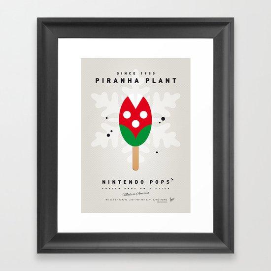 My NINTENDO ICE POP - Piranha Plant Framed Art Print