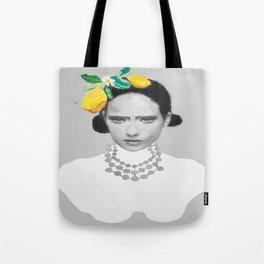 Dame with the lemons  Tote Bag