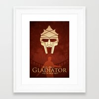 gladiator Framed Art Prints featuring Gladiator II by Anton Lundin