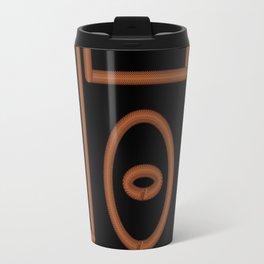 Black and Gold Chainmail Design Travel Mug