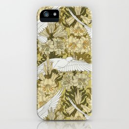VINTAGE DOVES AND FLOWERS by Maurice Verneuil iPhone Case