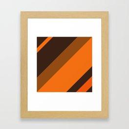 Brown Retro Framed Art Print