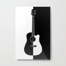 Acoustic Electric Guitar Metal Print