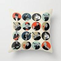 jazz Throw Pillows featuring Jazz  by Prelude Posters
