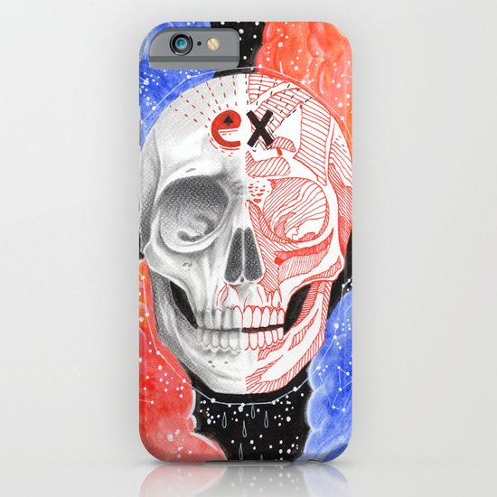 Skull in the space  iPhone & iPod Case