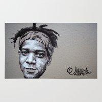 basquiat Area & Throw Rugs featuring J.MICHEL BASQUIAT by Jahwan by JAHWAN
