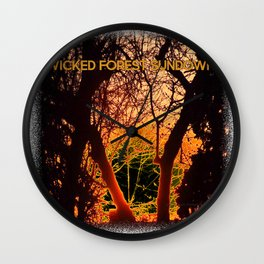 Wicked Forest at Sundown (The Dark Side of Art) - Jeronimo Rubio Photography 2016 Wall Clock