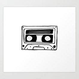 The cassette tape Art Print