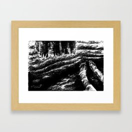 water's edge Framed Art Print