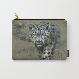 Snow leopard background Carry-All Pouch