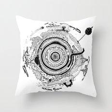 Little planet Throw Pillow