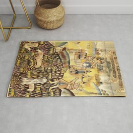 Limousin 16th Century French Tapestry Print Rug