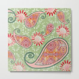 zakiaz pink paisley Metal Print