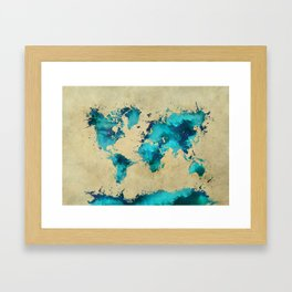 world map 38 Framed Art Print