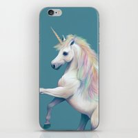 unicorn iPhone & iPod Skins featuring Unicorn by ShannonPosedenti
