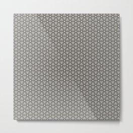 Decorative Triangles Pattern Metal Print