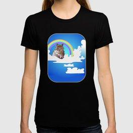 Momma Kitty & Rainbow Bridge T-shirt