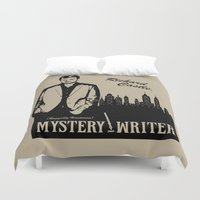 writer Duvet Covers featuring Richard Castle, Mystery Writer by LimitLyss