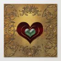 hearts Canvas Prints featuring Hearts by nicky2342