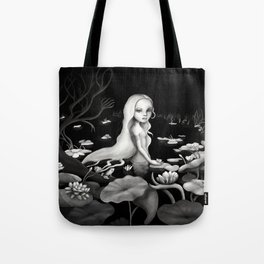 Woman in the water Tote Bag