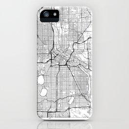 Minneapolis Map White iPhone Case