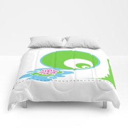 Exponential Growth Lily Pond - version 2 Comforters
