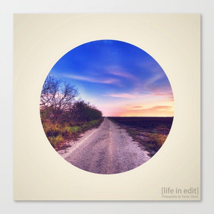 Circular Dirt Road Canvas Print