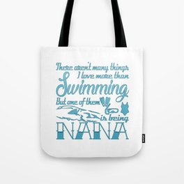 Swimming Nana Tote Bag