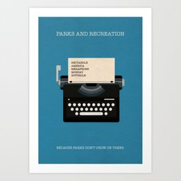 Parks And Recreation Minimalist Poster - Typewriter Art Print