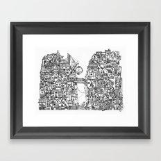 Busy City VII Framed Art Print