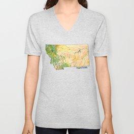 Montana Painted Map Unisex V-Neck