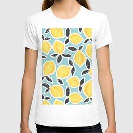 YELLOW CITRUS LEMON PATTERN T-shirt
